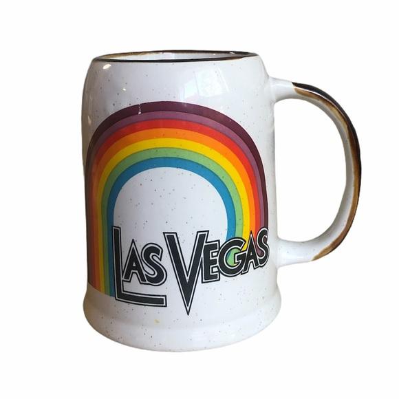Vintage Las Vegas rainbow mug cup Stein souvenir